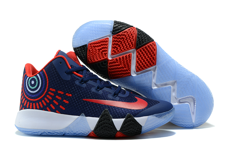 Nike Kyrie 4 Deep Blue Red Shoes