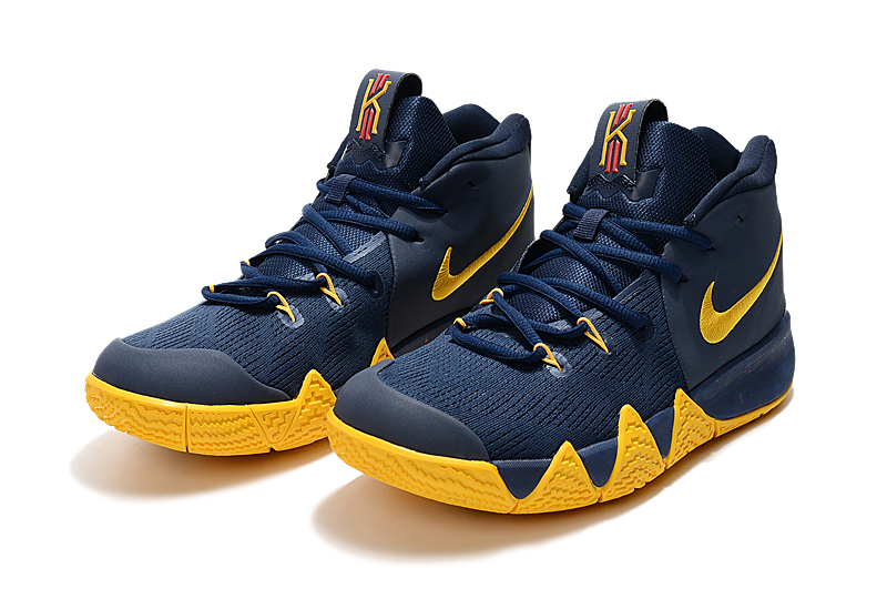 Nike Kyrie 4 Royal Blue Yellow Shoes
