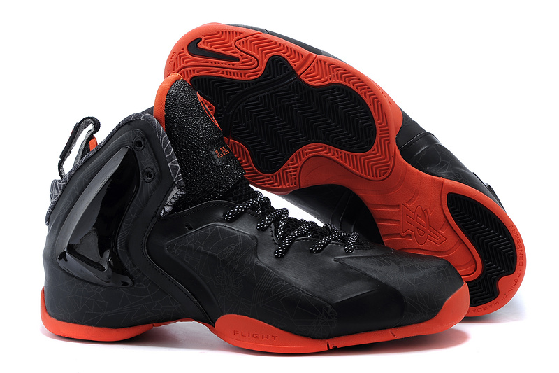 Nike LIL Penny Hardaway Black Orange Shoes