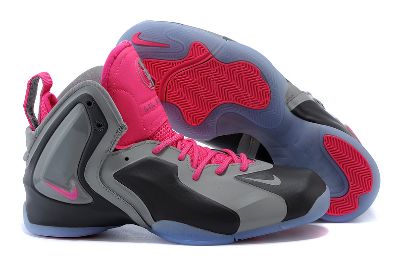 Nike LIL Penny Hardaway Grey Black Pink Shoes