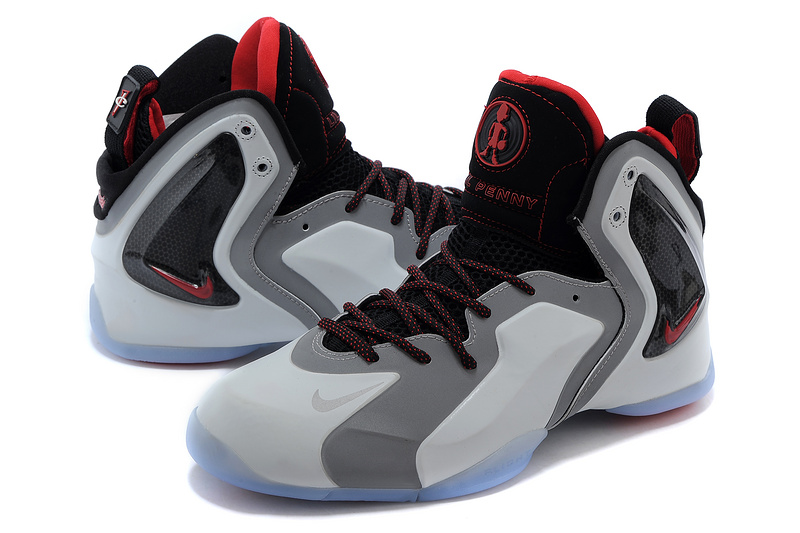 Nike LIL Penny Hardaway Grey Black Red Shoes