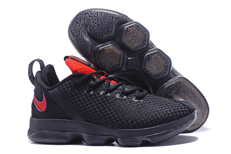 Nike LeBron 14 Low Black Red Shoes