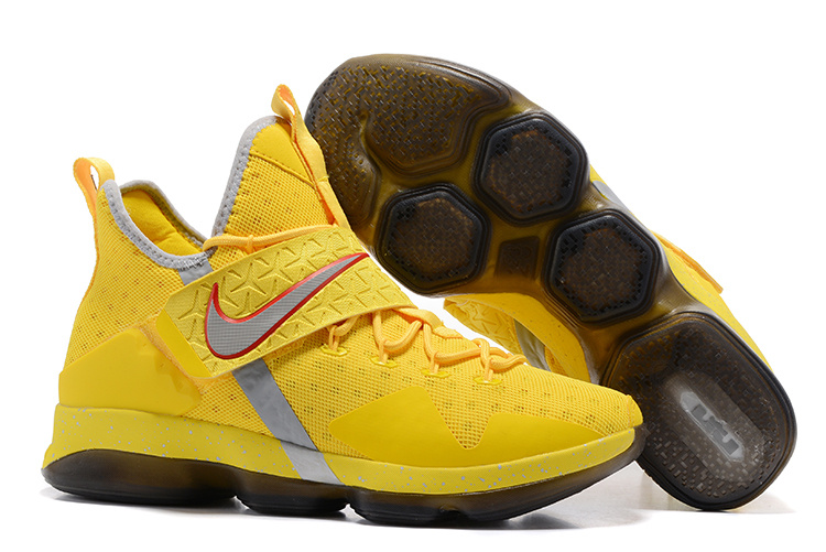 Nike LeBron 14 Yellow Silver Red Shoes