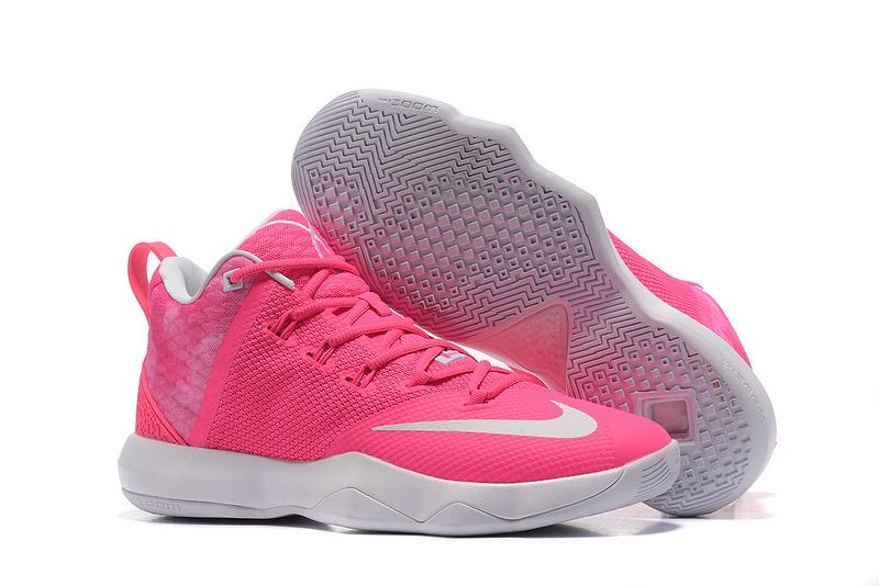 Nike LeBron Ambassador 9 Pink White Shoes