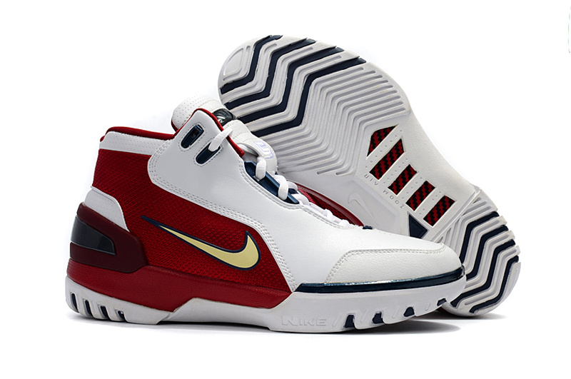 Nike LeBron I Retro White Red Shoes