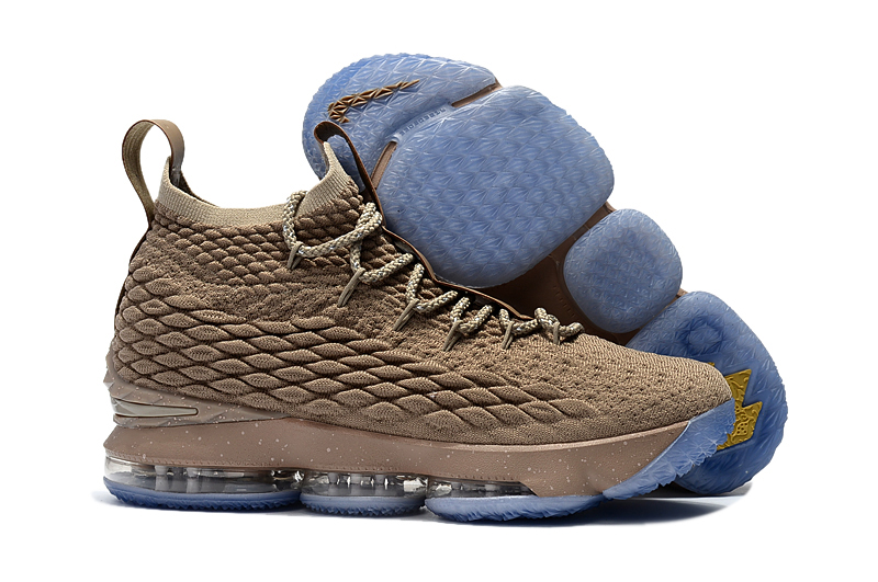 Nike LeBron James 15 Brown Ice Sole Shoes