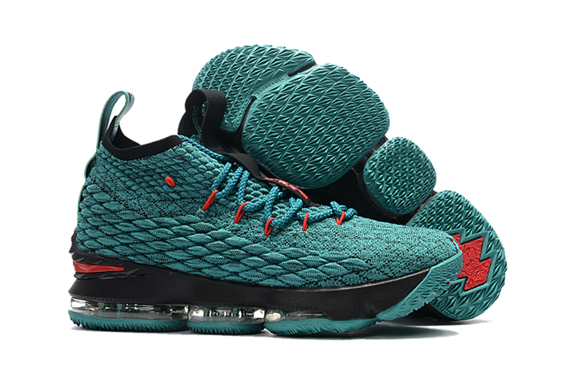Nike Lebron James 15 Black Red Lakers Green Shoes