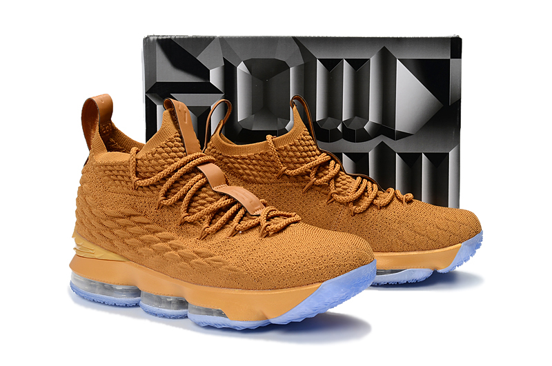 Nike LeBron James 15 Wheat Yellow Ice Sole Shoes