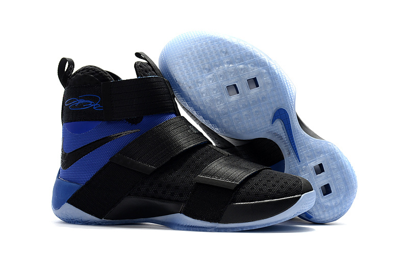 Nike LeBron Soldier 10 EP Black Royal Blue Shoes
