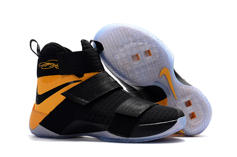 Nike LeBron Soldier 10 EP Black Yellow Shoes