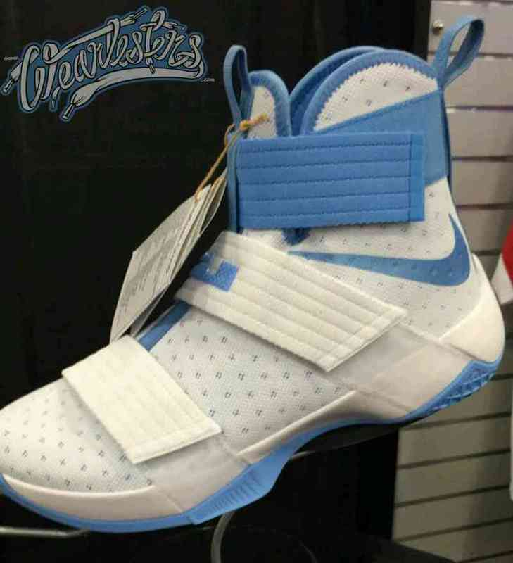 Nike LeBron Soldier 10 White Blue Shoes