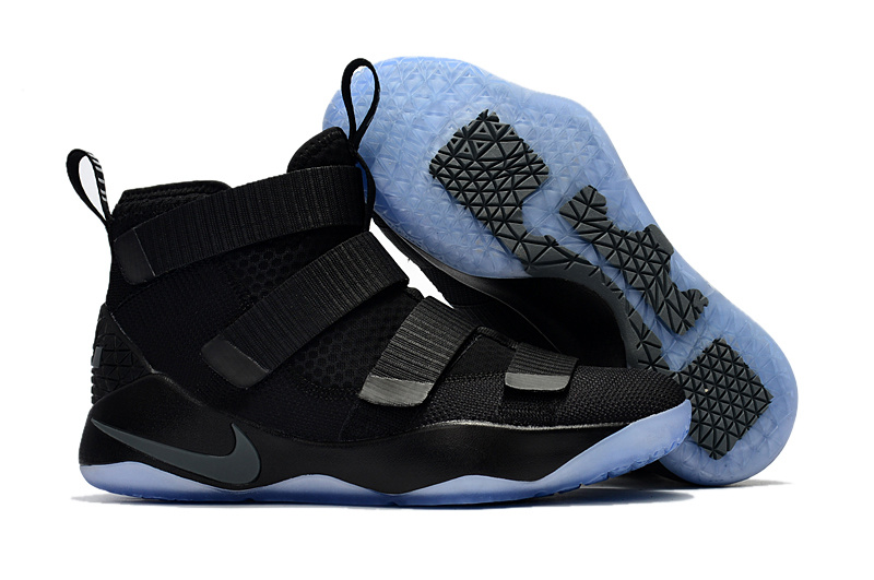 Nike LeBron Soldier 11 All Black Gamma Blue Shoes