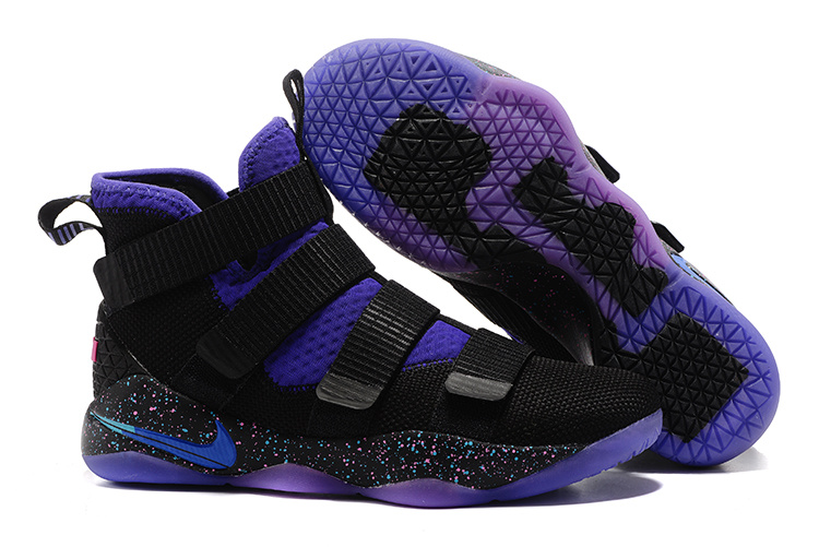Nike LeBron Soldier 11 Black Purple Shoes