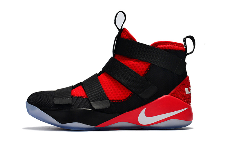 Nike LeBron Soldier 11 Black Red Shoes