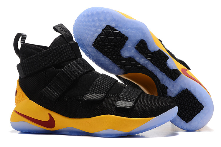 Nike LeBron Soldier 11 Black Yellow Ice Sole Shoes