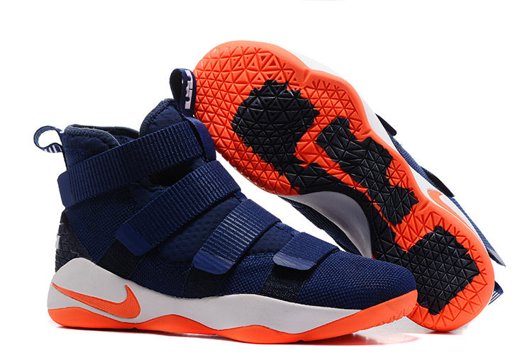 Nike LeBron Soldier 11 Blue Orange Shoes