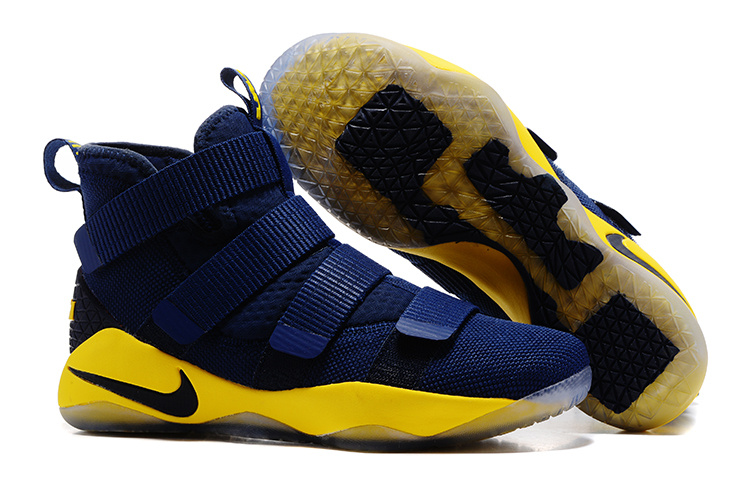 Nike LeBron Soldier 11 Blue Yellow Shoes