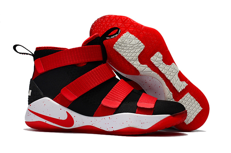 Nike LeBron Soldier 11 Red Black Shoes