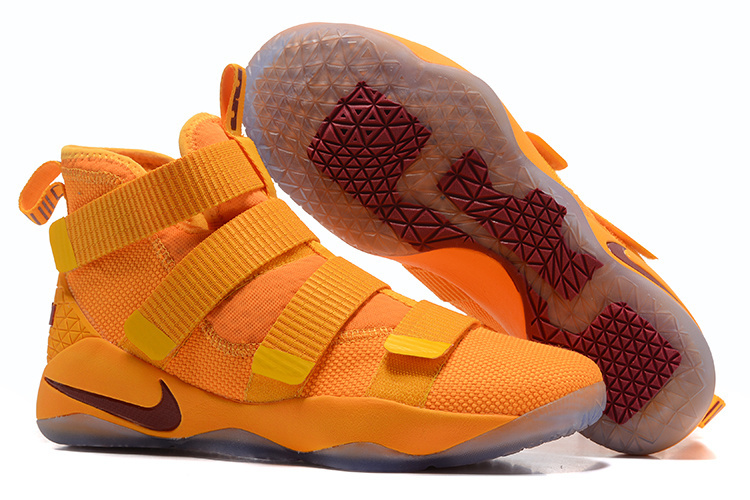 Nike LeBron Soldier 11 Yellow Wine Red Shoes