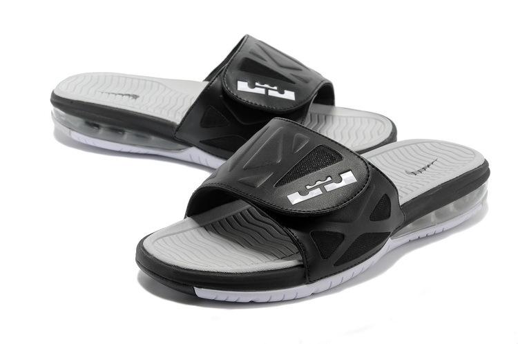 955d68ad292 Functional Nike Lebron James Hydro 10 Air Cushion Black Grey Sandal ...