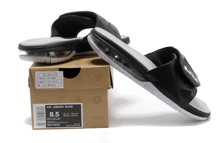 aeb14207d6c Functional Nike Lebron James Hydro 10 Air Cushion Black Grey Sandal ...