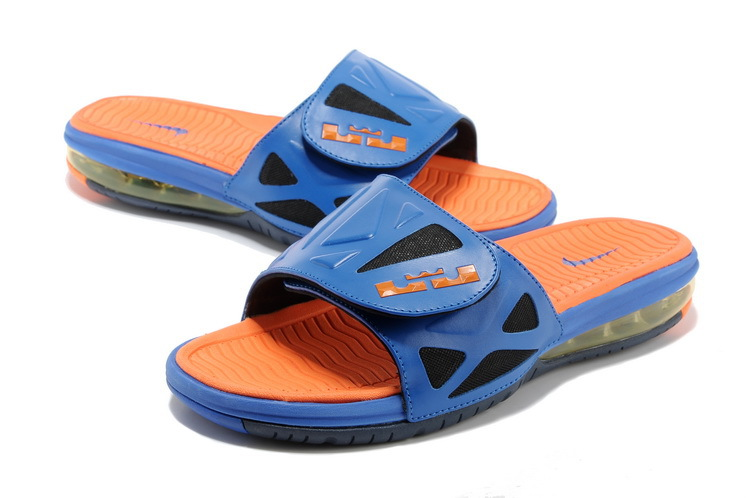 0497e39f192 Functional Nike Lebron James Hydro 10 Air Cushion Blue Orange Sandal ...