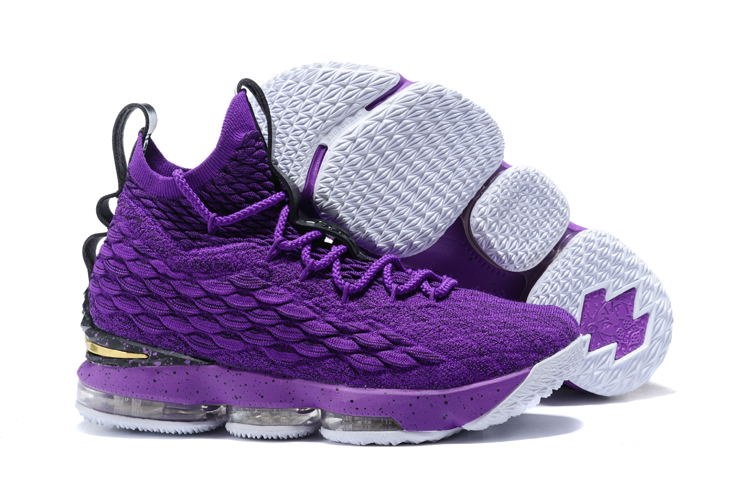 Nike Lebron 15 All Purple Shoes