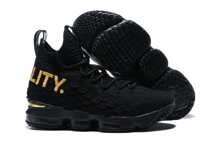 Nike Lebron 15 Equality Black Gold Shoes