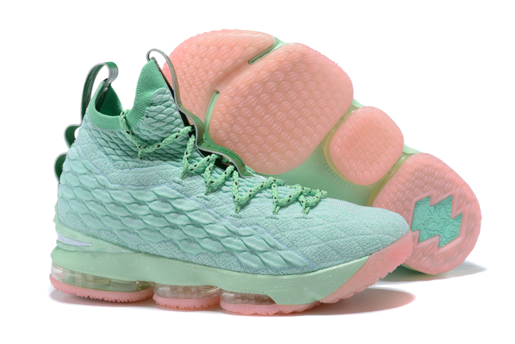 Nike Lebron 15 Gint Green Pink Shoes