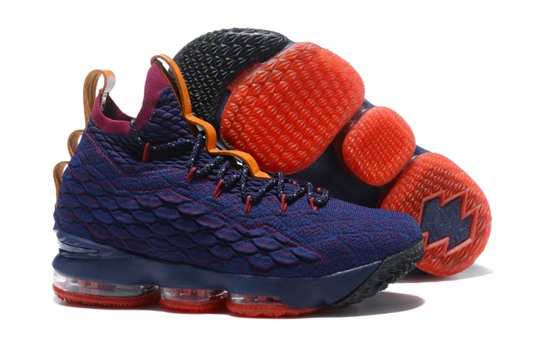 Nike Lebron 15 Purple Red Yellow Shoes