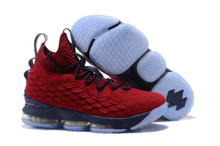 Nike Lebron 15 Red Deep Blue Shoes