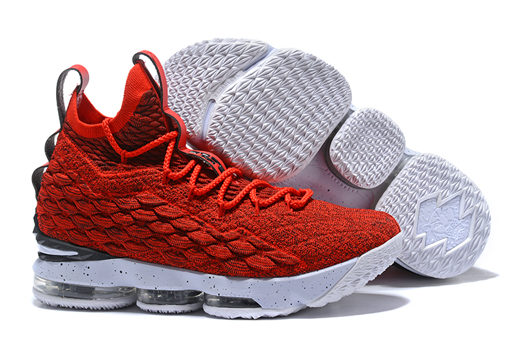 Nike Lebron 15 Red White Shoes