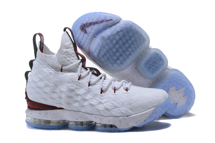 Nike Lebron 15 White Wine Red Shoes