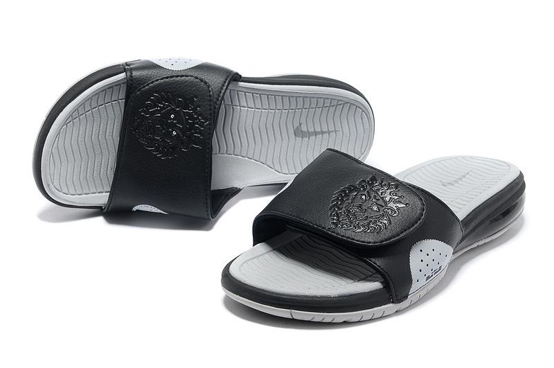 san francisco 50719 20cee ... Slide Air Max Outdoor Slippers Mens Flip Flop Blue Orange; Nike Lebron  James Hydro 9 Black Grey Sandal ...