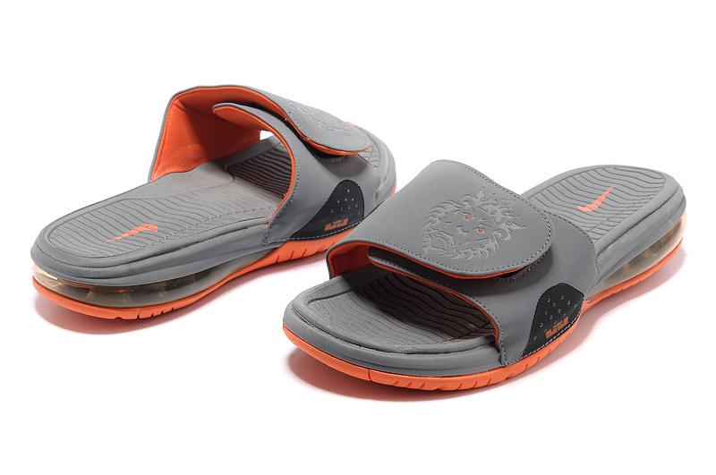 e5a03edc7ae Functional Nike Lebron James Hydro 9 Grey Orange Sandal Fast Shipping