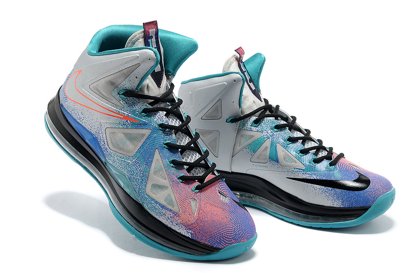 Nike Lebron James 10 Colorful Basketball Shoes For Women