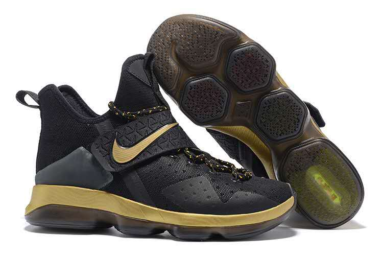 Nike Lebron James 14 Black Gold Shoes