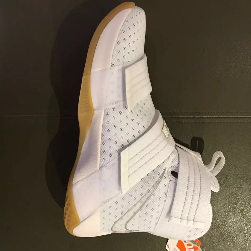 Nike Lebron Soldier 10 All White Shoes