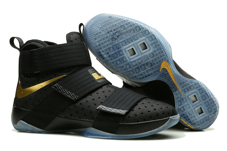 Nike Lebron Soldier 10 Black Gold Shoes