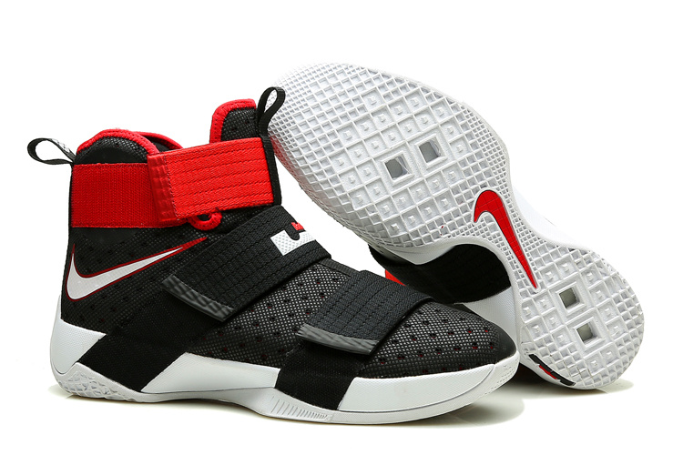Nike Lebron Soldier 10 Black White Red Shoes