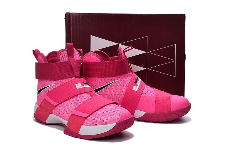 Nike Lebron Soldier 10 Breast Cancer Pink Shoes