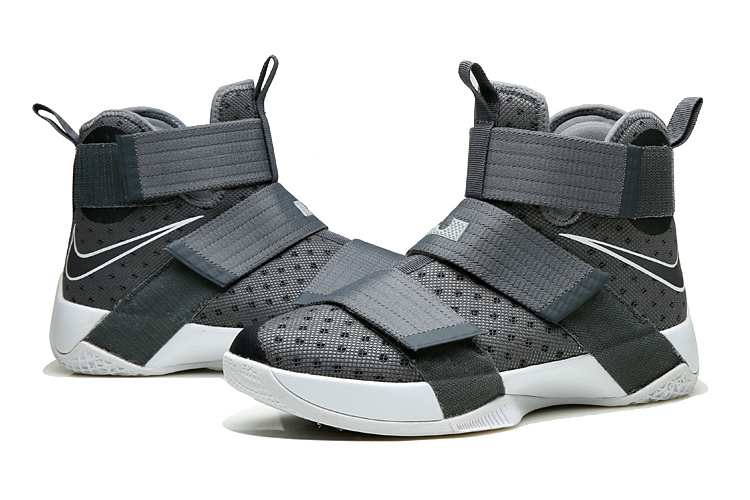 Nike Lebron Soldier 10 Grey White Shoes