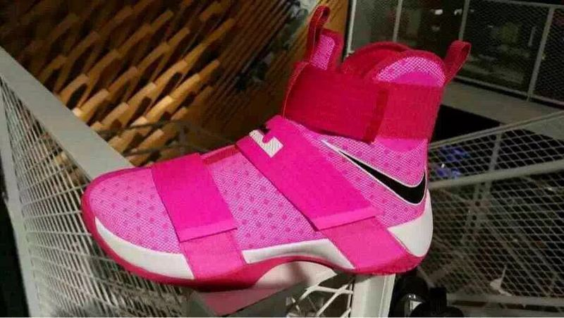Nike Lebron Soldier 10 Pink White Shoes