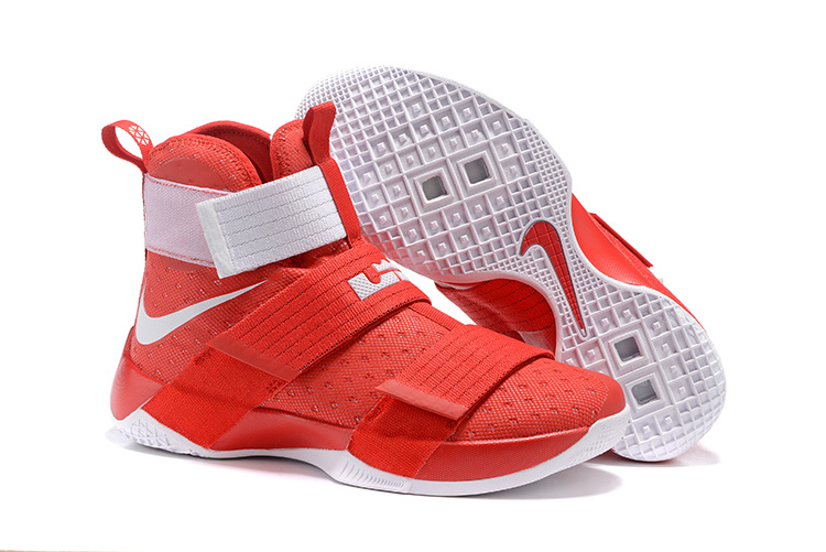Nike Lebron Soldier 10 Red White Shoes