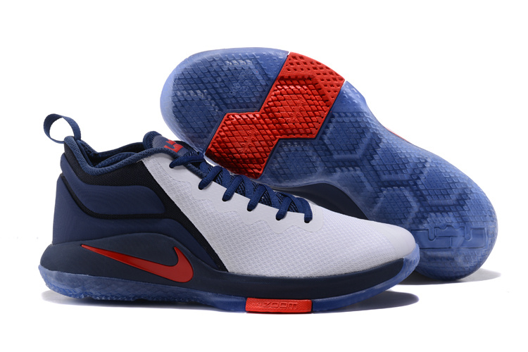 Nike Lebron Witness 2 Grey Blue Red Shoes