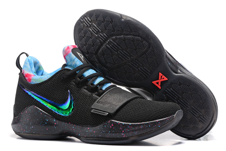 Nike PG 1 Flyknit Black Shine Blue Shoes