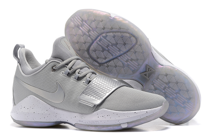 Nike PG 1 Grye Silver Shoes