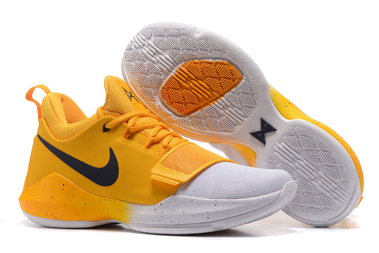 Nike PG 1 Wolf Yellow White Blue Shoes