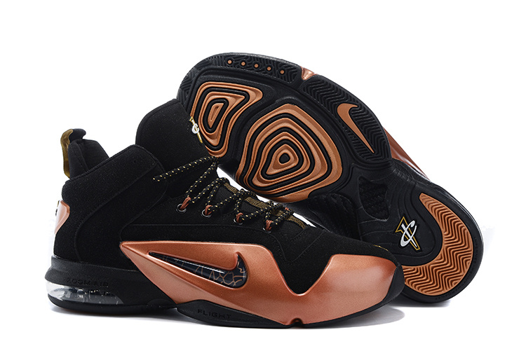 02b09e37bb53 Nike Penny Hardaway 6 Black Gold Shoes  NKOBE252  -  80.00 ...