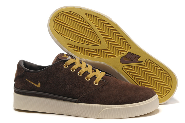 Nike Pepper Low Brown Yellow Shoes